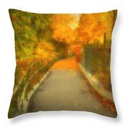 The Colour Around The Corner Throw Pillow