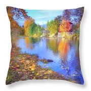 The Colours Of October Throw Pillow