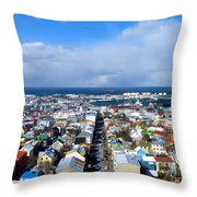 The Colours Of Reykjavik Throw Pillow