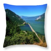 The Columbia Gorge National Scenic Area Throw Pillow