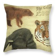 The Columbus, Oh Zoo Throw Pillow