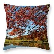 The Comfort Of Autumn Throw Pillow