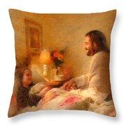 The Comforter Throw Pillow by Greg Olsen