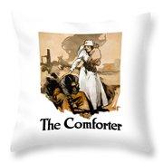 The Comforter - World War One Nurse Throw Pillow