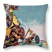The Coming Of The Vikings Throw Pillow