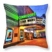 The Commodore Theatre, Portsmouth, Va Throw Pillow