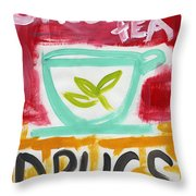 The Common Cure- Abstract Expressionist Art Throw Pillow