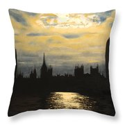 The Commons From South Bank Throw Pillow