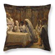 The Communion Of The Apostles Throw Pillow