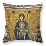 The Comnenus Mosaics In Hagia Sophia Throw Pillow