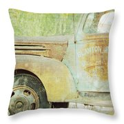 The Company Truck Throw Pillow