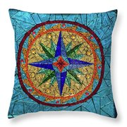 The Compass Throw Pillow