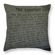 The Comstock Lode Marker Throw Pillow