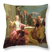 The Concert  Throw Pillow by Etienne Jeaurat