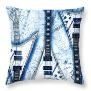 The Concorde Blueprint Throw Pillow