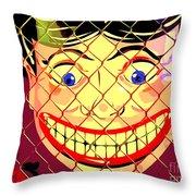 The Coney Smile Throw Pillow