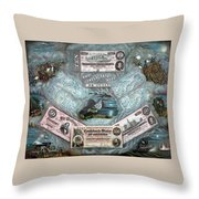 The Confederate Note Memorial  Throw Pillow