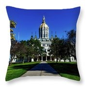 The Connecticut State Capitol Throw Pillow