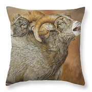 The Conquest - Bighorn Sheep Throw Pillow