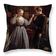 The Consecration Throw Pillow by George Cochran