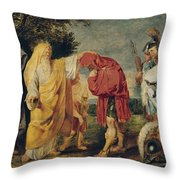 The Consecration Of Decius Mus Throw Pillow
