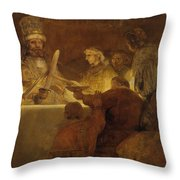 The Conspiracy Of The Batavians Under Claudius Civilis Throw Pillow