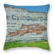 The Cool Coast Camp Throw Pillow