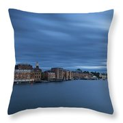 ...the Coolness Of Portsmouth...blue Hour... Throw Pillow