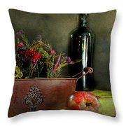 The Copper Planter Throw Pillow