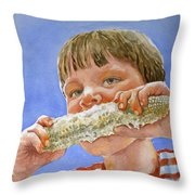 Andrew The Corn Eater Throw Pillow