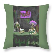 The Corner Bar Throw Pillow