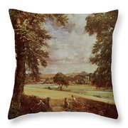 The Cornfield, Detail Of The Harvester, 1826 Throw Pillow