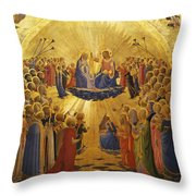 The Coronation Of The Virgin Throw Pillow