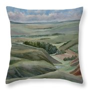 The Corrugated Plain Throw Pillow