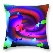 The Cosmic Bunnies Throw Pillow