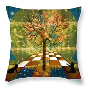 The Cosmic Tree Throw Pillow