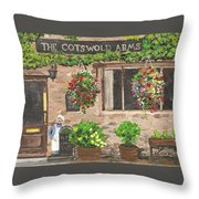 The Cotswold Arms Throw Pillow