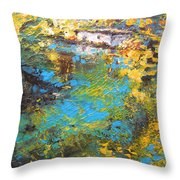 The Cottage By The Lagoon Throw Pillow