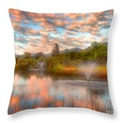 The Cotton Candy Sky Throw Pillow