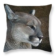 The Cougar Throw Pillow