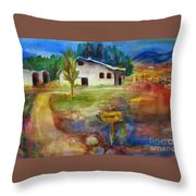 The Country Barn Throw Pillow