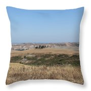 The Country In The Tuscany Region Throw Pillow