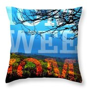The Country Is My Home Throw Pillow
