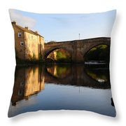 The County Bridge Throw Pillow