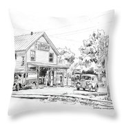 The County Line Store, 1931 Throw Pillow
