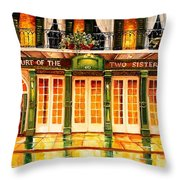 The Court Of Two Sisters On Royal Throw Pillow