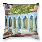 The Court Yard Throw Pillow