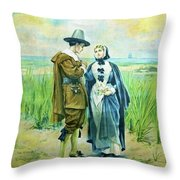 The Courtship Of Miles Standish Throw Pillow