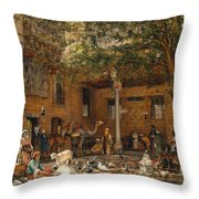 The Courtyard Of The Coptic  Throw Pillow
