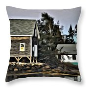 The Cove At Dusk Throw Pillow